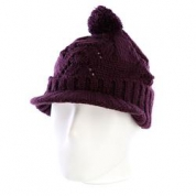 фото Шапка женская с помпоном Zoo York Lace Knit Cable Hat Potent Purple