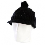 фото Шапка женская с помпоном Zoo York Lace Knit Cable Hat Black
